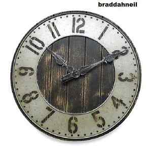 Image Is Loading Industrial Large Loft Rustic Wall Clock Urban Punched