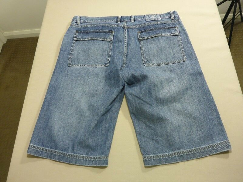 128 MENS EX-COND R & G BUDDY LOW RISE LOOSE blueE DENIM SHORTS SZE 38  RRP.