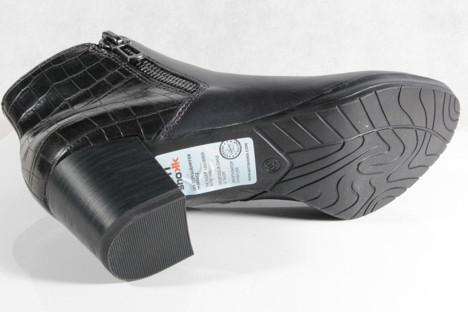 Marco Tozzi Stiefelette Stiefel NEU Leder anthrazit/dunkelblau 25388  NEU Stiefel c8c9fc