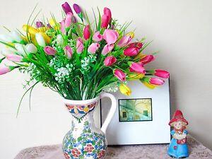 1 ramo 12 Cabezas Artificial Flor Tulipán Floral Posy Inicio Jardín Decoración  </span>