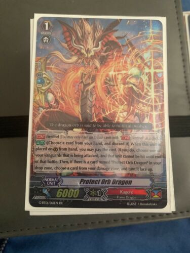 Cardfight Vanguard Protect Orb Dragon RR
