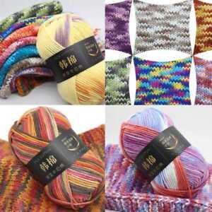 26Colors-100g-Soft-Chunky-Milk-Knitting-Wool-Yarn-Baby-Skein-Ball-Multi-Col-H7Y6