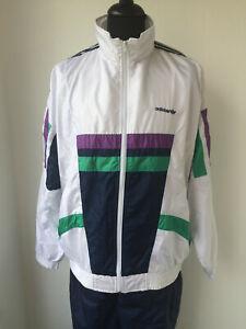Details zu Super Adidas Vintage Trainingsjacke Jacke Hipster Hose Retro D6 Gr. L Top!