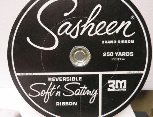 250 Yard Roll Sasheen 3M Satiny 7//8 Ribbon Wedding Party Blue Green Purple Peach
