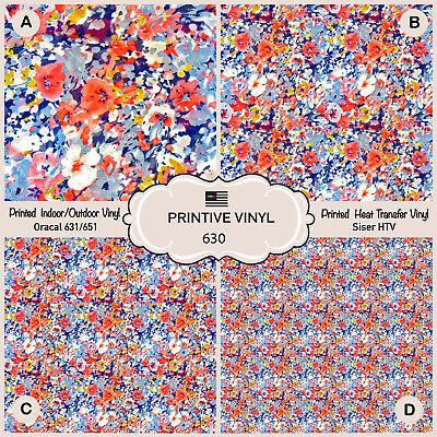 Oracal Siser American Flag Pattern Printed HTV Craft vinyl-  026