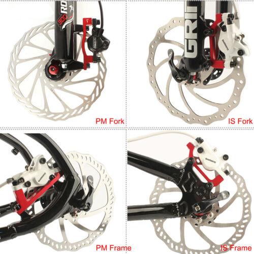 MTB Bike 160mm,180mm,203mm Disc Brake 6 Bolts Rotor PM//IS Brake Adapter Caliper