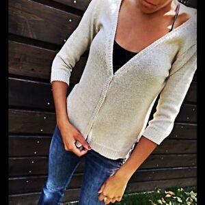 Size Top Women's Cream Zara Knit M 141IqAwx