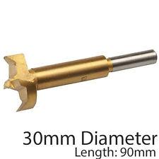 Pro 30mm titanio recubiertos Forstner Brocas – Serrucho de fondo plano/Núcleo Perforación Cortador