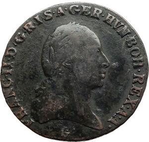 1800-AUSTRIA-w-Emperor-Franz-II-Hapsburg-Antique-3-Kreuzer-Austrian-Coin-i74534