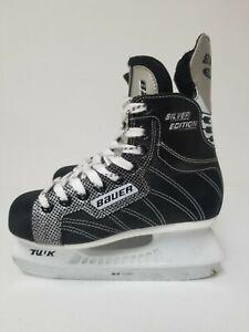 Bauer-Supreme-Silver-Comp-Hockey-Ice-Skates-Youth-Size-US-3-Skating-US2R-Black