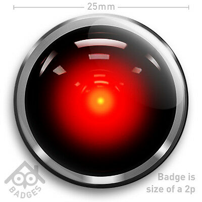 "2001 A Space Odyssey HAL 9000 Arthur C Clarke 25mm 1"" Badge"