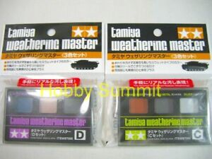 Tamiya-3-color-WEATHERING-MASTER-Paint-Set-C-amp-D-Rust-Oil-Stain-Burnt-Metal