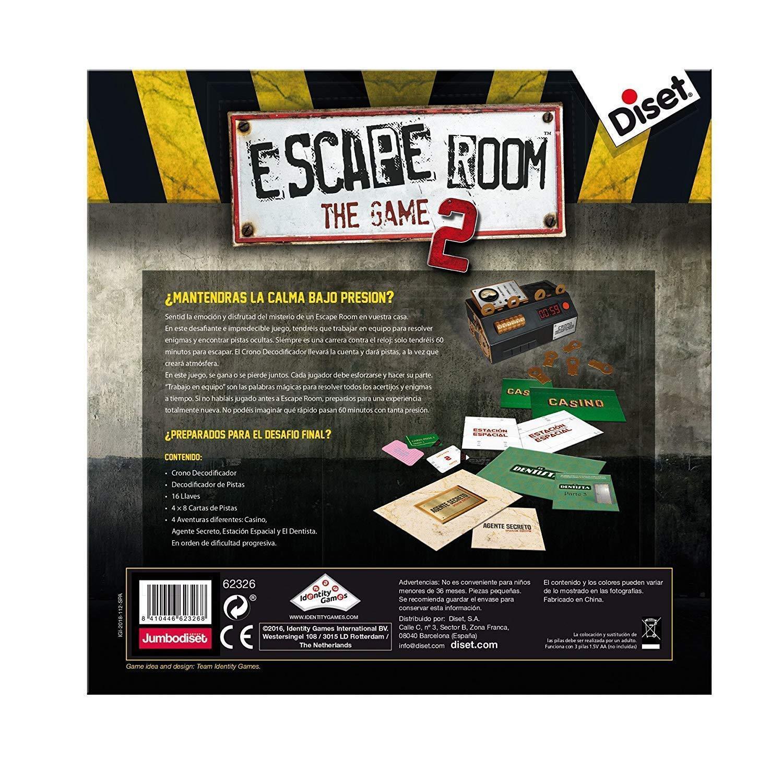 Diset 62326. Juego de Mesa Escape Room Room Room V2 Original. Edición Española. +16 años 7a9a69