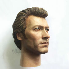 """1/6 Scale Action Figure Collectible Head Carving Clint Eastwood For 12"""" Body"""