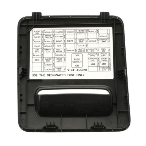 OEM Genuine Kia Fuse Box Cover 16-18 Sorrento 84752-C6000WK