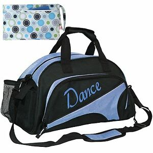 kilofly Girls Ballet Dance Sports Gym Duffel Bag Travel Carry On + Handy Pouch