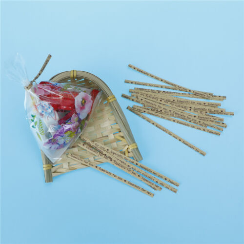 100pcs Gift Wrapping Especially For You Twist Ties for Cookie Candy Bag Sealing