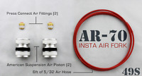 Air Ride Pistons Ads Airride To Front Fork Tubes 49mm Fits 14-up W/stock Trees