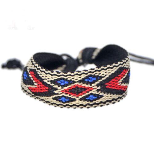 Braided Friendship Rope Boho String Colorful Bracelets Handmade Woven Wrap