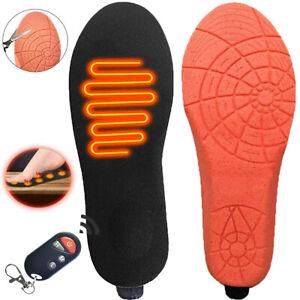 Electric Heated Insoles Foot Warmer Shoe Feet Heater Battery Warm Socks Ski Boot