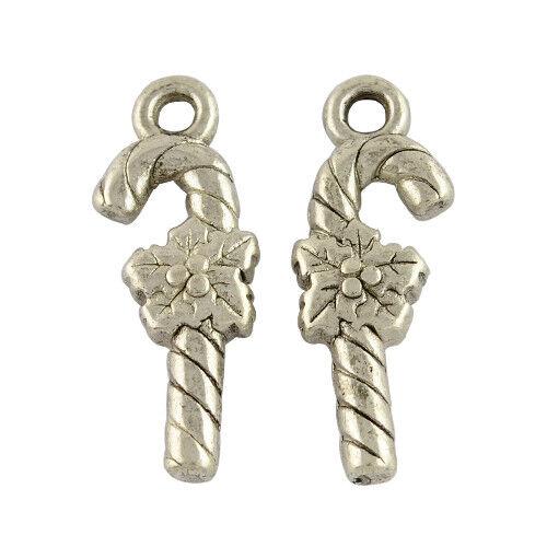 10 pieza colgante amuletos cadenas Navidad de caña de azúcar 2154