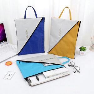Am-Dual-Layer-Canvas-Document-Holder-School-Office-Bag-Tote-Organizer-Handbag-M