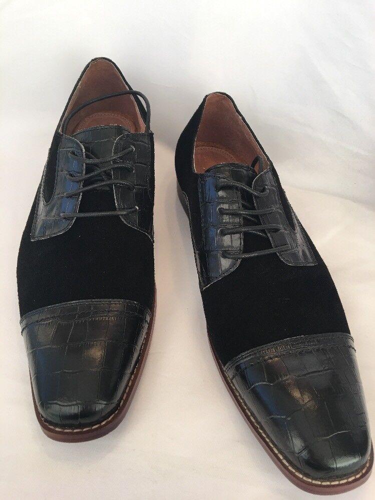 Javi Black Size 12 Dress Oxford shoes, Lace Up