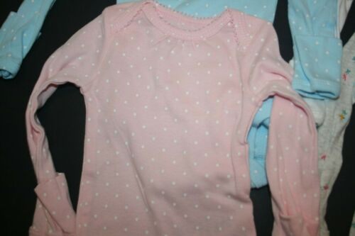 New Carter/'s Girls 4 Pack Tiny Floral Dots Bodysuits NWT NB 3 6 9m 12m 18m 24m
