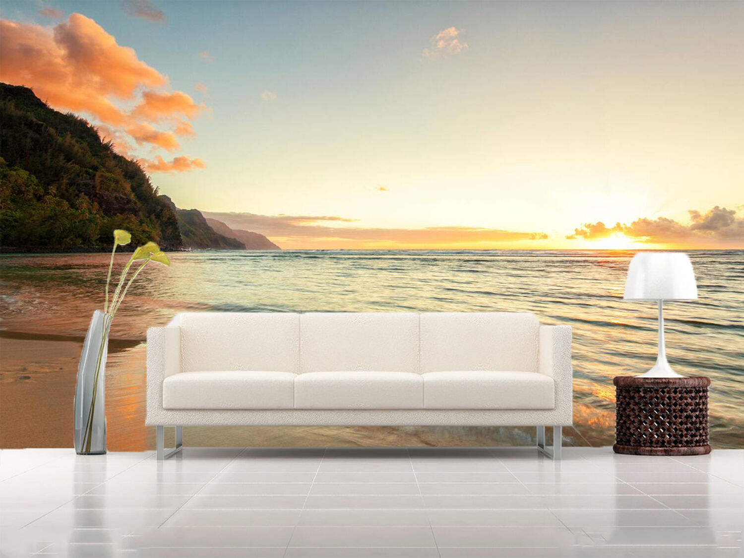 3D Sunrise Seaside Beach 4589 Wall Paper Wall Print Decal Wall AJ WALLPAPER CA