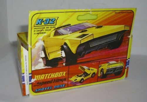Repro Box Matchbox Speed Kings K 32 Shovel Nose