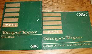 1993 Ford Tempo Mercury Topaz Shop Service Manual + Wiring ...