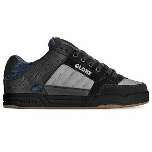 Globe Tilt Skate Shoes Trainers Black Red Grey Knit Action Nubuck Mesh