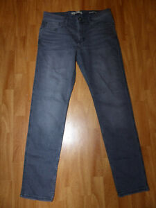 Neue-Mango-Man-Casual-Tim-Herren-Slim-Fit-Jeans-Gr-Eur-46-Grau-Used-Look