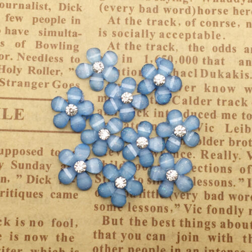 DIY 20x 10mm Resin Crystal Flower Flatback Scrapbooking for wedding//phone Crafts