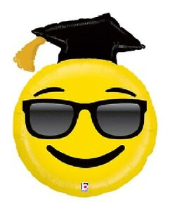 GRAD Hat Graduation Party Sunglasses Smiley Face Awesome