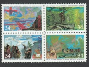 Exploration-of-Canada-2-Canada-1987-1129a-MNH-VF-Se-Tenant-Block-of-4-q01