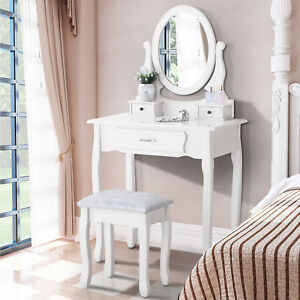 Image Is Loading Vanity Makeup Dressing Table Set With Stool 3