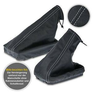 Schaltsack Schaltmanschette passend für OPEL CORSA C Bj 00-06 Leder Rot-Schwarz