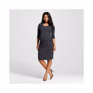 a4317653955ec Sexy LIZ LANGE Maternity Black Spacedye Sleeve T-Shirt Dress S M L ...