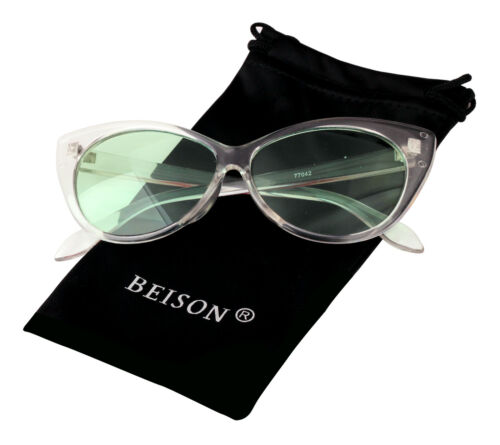 Summer Eyewear Womens Cateye Glasses Sunglasses Candy Color Tinted Lens UV400
