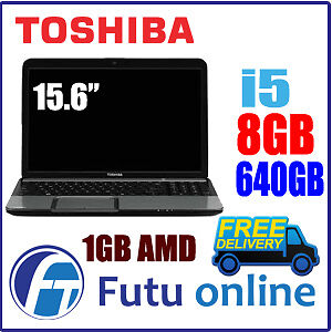 Toshiba-C850-Core-i5-2450M-15-6-LED-8GB-640GB-Bluetooth-Win7Pro-Wifi-Webcam-DVD