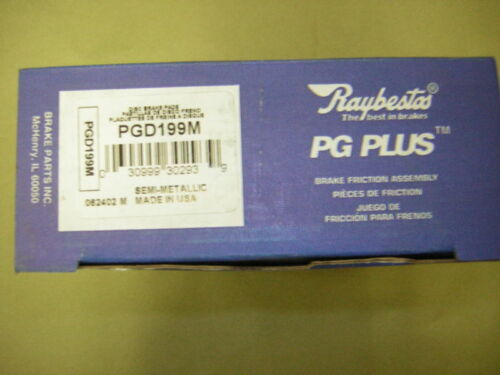 Disc Brake Pad-PG Plus Professional Grade Metallic Front Raybestos PGD199M