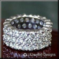 6.00 CT DOUBLE ROW ROUND MOISSANITE FULL FOREVER BRILLIANT ETERNITY BAND RING