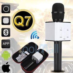 92e54d4b1a0 Image is loading Q7-Wireless-Bluetooth-Karaoke -Microphone-USB-Player-Speaker-