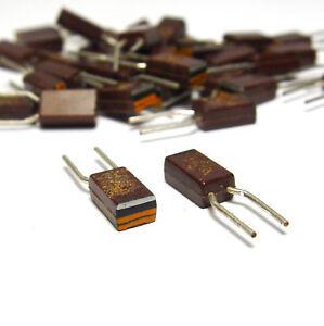40x-Vintage-Vitrohm-UBT-Widerstand-Kohleschicht-umprest-33-Ohm-1-3-W-radial