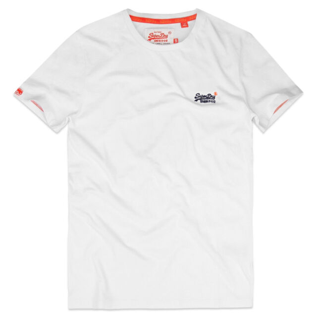 75dd1f7c Mens Superdry Orange Label Vintage Logo T-shirt T Shirt Tee White XL ...