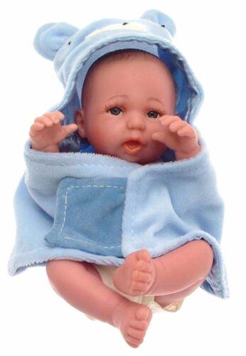 Baby doll ragazzo bambino Bambola piccola in Vinile Baby Doll per Boy Blue Asciugamano