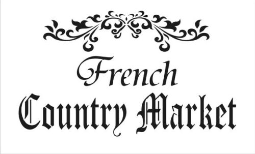 high detail airbrush stencil french country market sign FREE UK POSTAGE