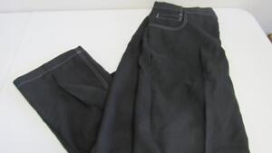 Haband-060-Men-039-s-Big-Sizes-Black-Dress-Jeans-Extended-Fit-Forever-Waist-Band-NEW