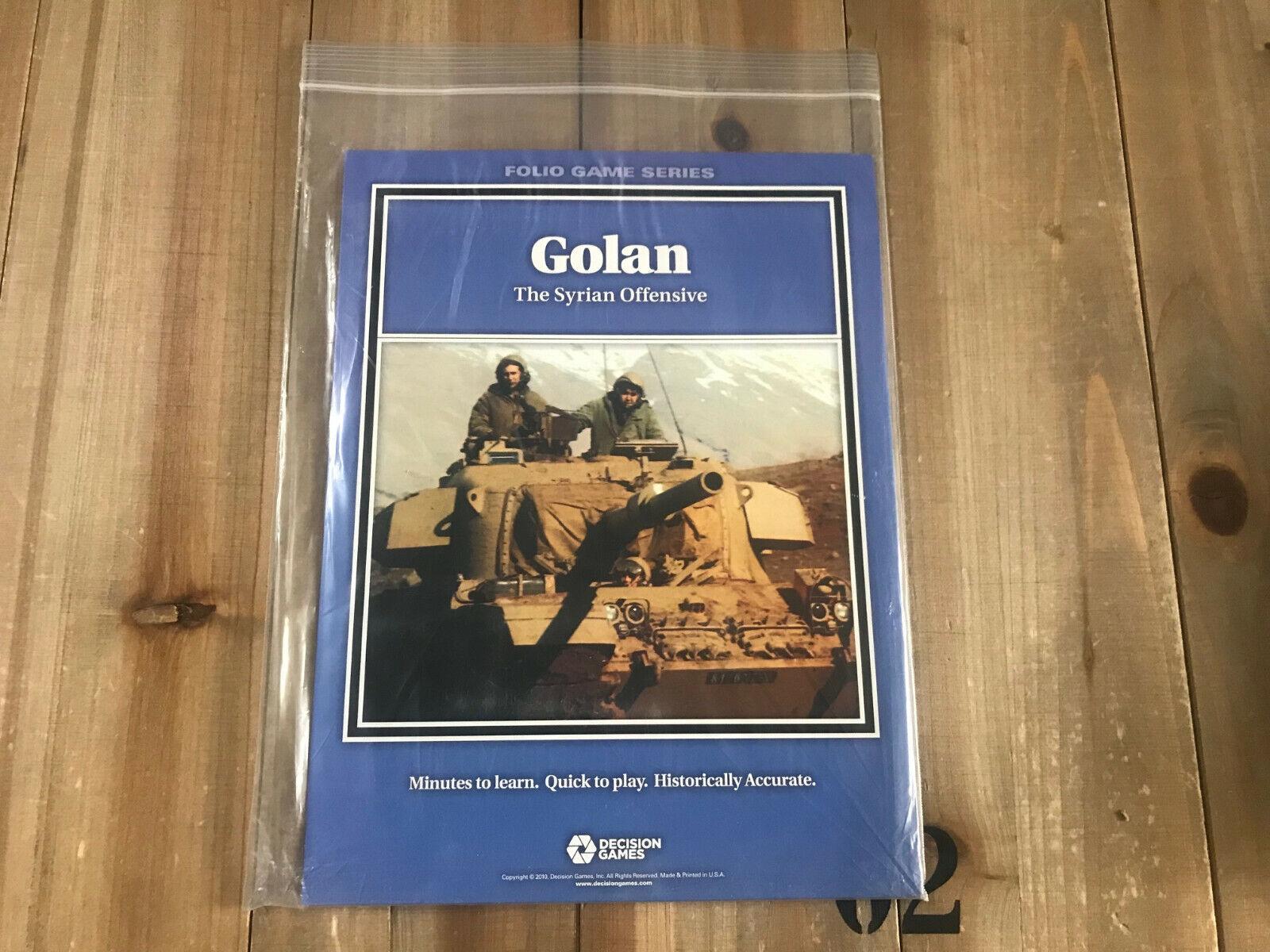 Wargame - GOLAN - Decision Games Folio Game Series Modern Battles DG 1615